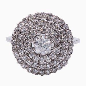 18 Karat Ring in Weißgold mit Diamanten