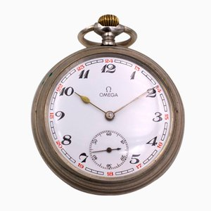 Metal Pocket Watch from Omega, Early 1900s