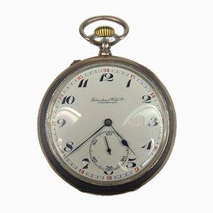 Reloj de bolsillo International Watch Co. plateado, finales de 1800