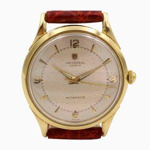 Reloj de pulsera Universal Geneve parachoques automático en oro de 18 quilates, años 50