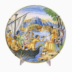 Castelli Keramik Teller, Xnumxth Century.