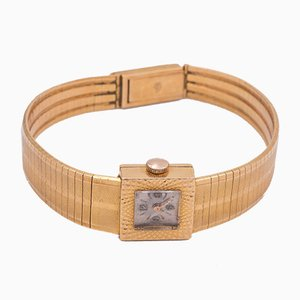 Lady Le Monde Vintage Wristwatch in 18k Gold, 1950