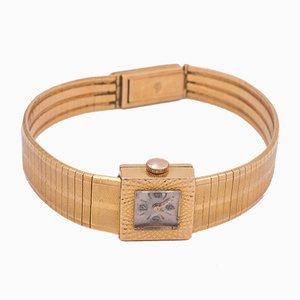 Orologio a bracciale Lady Le Monde vintage in oro 18k, anni '50
