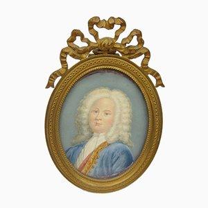 Miniaturenfigur eines auf Elfenbein lackierten Adligen, frühes 19. Jh