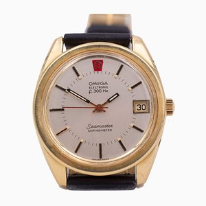 Vintage Electronic Seamaster Watch in 18K Gold from Omega