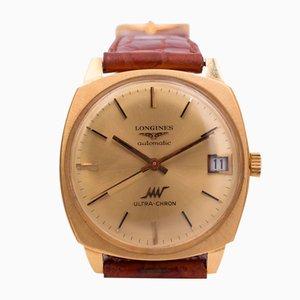 Reloj Ultrachron automático vintage dorado de Longines, años 60