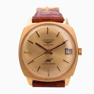 Vintage Automatic Ultrachron Wrist Watch in Gold from Longines, 1960s
