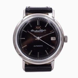 Orologio da polso vintage automatico in acciaio con datario di IWC International Watch Company, anni '60