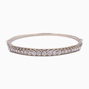 Weißgoldfarbenes Armband mit Diamanten in Brilliantschliff