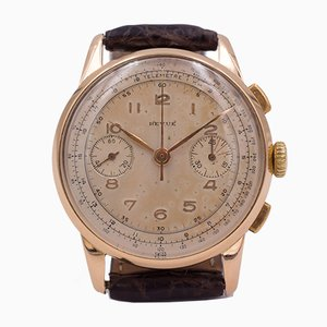 Vintage Chronograph Watch in Gold from Revue Thommen, 1950s