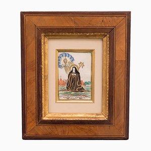 Pergamentstich von Santa Chiara, Antwerpen, 20. Jahrhundert