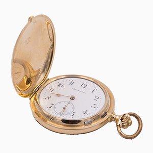 Orologio da taschino Savonette cronometro in oro 14K e fuga Detente, fine XIX secolo