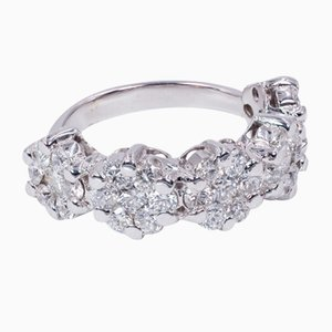 18k Gold Riviera Ring with Cut Diamonds