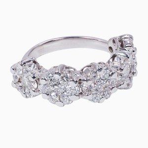 Bague Riviera en Or 18 Carats avec Diamants Coupés