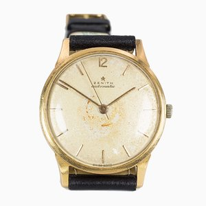 Vintage Gold Automatic Bumper Wrist Watch from Zenith, 1950s