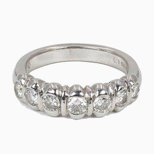 Vintage Ring in Weißgold mit Diamantenschliff