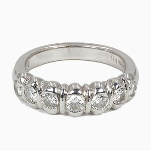 Vintage White Gold Ring with Cut Diamonds