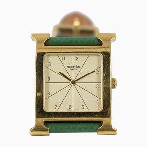 Reloj bañado en oro de Hermes, años 2000
