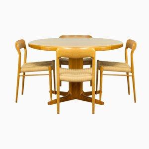 Oak Dining Model 75 Chairs by Niels Møller for JL Møller, Set of 4