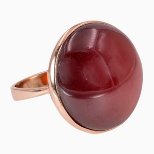 Vintage 9 Karat Karneol Ring aus Gold, 1960er