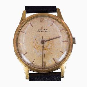Reloj de pulsera vintage de oro de 18 quilates de Zenith, años 50