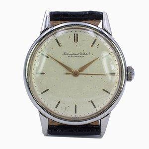 Vintage Stahl Uhr von Iwc International, 1950er