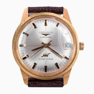 Reloj de pulsera automático vintage en oro 18k de Longines Ultrachron, años 70