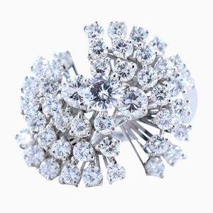Vintage Ring aus Weißgold mit Diamanten, 1960er
