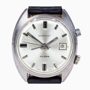 Vintage Stahl Wecker Armbanduhr von Bermont, 1960er