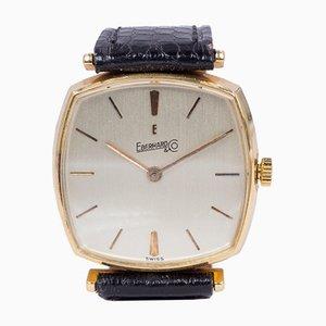 Reloj de pulsera vintage de oro de 18 k de Eberhard, años 60