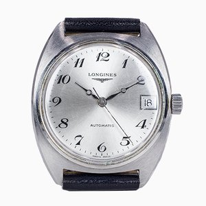 Reloj de pulsera automático vintage de acero de Longines, años 60