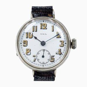 Orologio da polso Trench in argento di NWCo., Inizio XX secolo