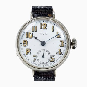 Trench Wrist Watch in Silver from N.W.Co., 1900s