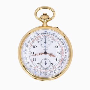 Pocket Chronograph in 18k Gold from Longines, 1912