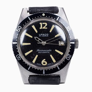 Barracuda Divers Automatic Wrist Watch in Steel from Lanco, 1960s