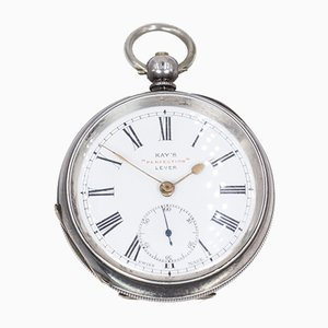 Schlüssel-Taschenuhr aus Silber