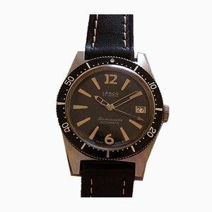 Reloj de pulsera automático Barracuda de acero de Lanco, años 60