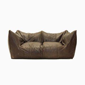 Italienisches Le Bambole Sofa aus Leder von Mario Bellini für B&B