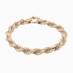 Vintage Bracelet in 18k Two-Tone Gold from Unoaerre, 1970s