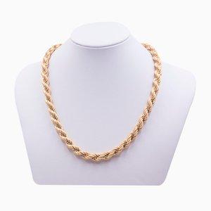 Collar vintage en oro de 18k de dos tonos de Unoaerre, años 70