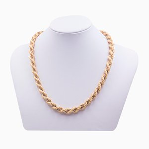 Vintage Necklace in 18k Two-Tone Gold from Unoaerre, 1970s