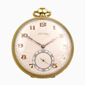 Reloj de bolsillo de oro de 18 k de Ulysse Nardin, años 40