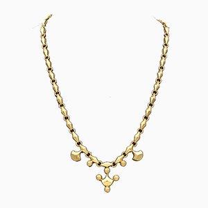 Vintage 18K Gold Boxed Necklace, 1950s