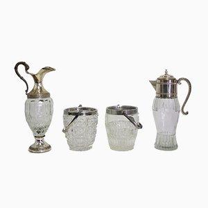 Glass Jugs, 1960s, Set of 4