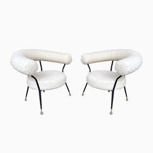 Italienische Vintage Sessel von Ipa Bologne, 1950er, 2er Set