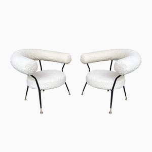 Vintage Italian Armchairs by Ipa Bologne, 1950s, Set of 2