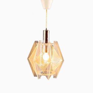 Mid-Century Plexiglas Hanging Lamp from Sompex, 1970
