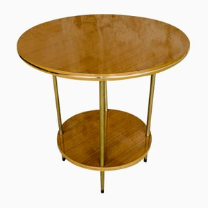 Round Mid-Century Two-Tiered Formica Side Table, 1960s or 1970s