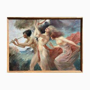Austrian Art Nouveau Painting by Eduard Ansen-Hofmann