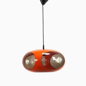 Vintage Orange Ceiling Lamp by Luigi Colani for Massive